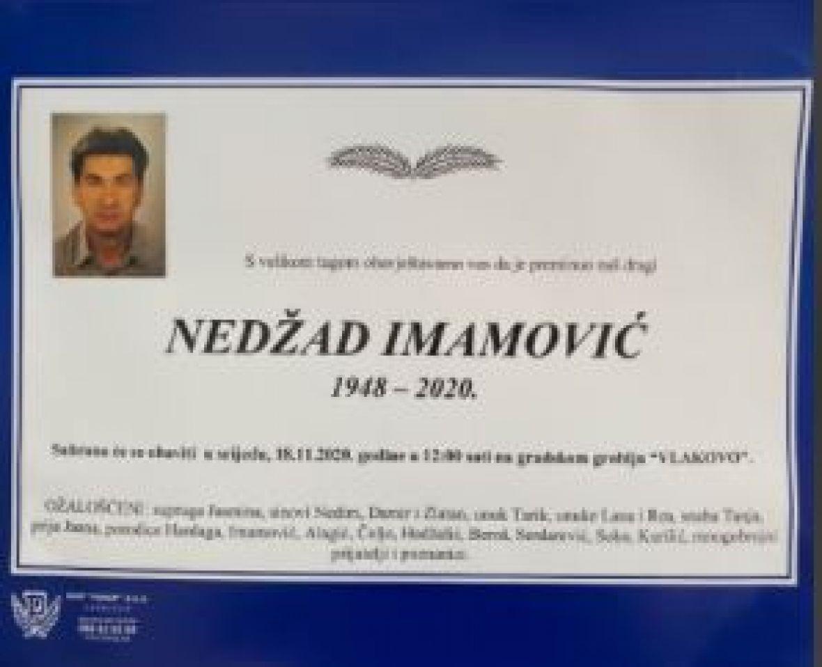 Poznato kada je sahrana Nedžada Imamović