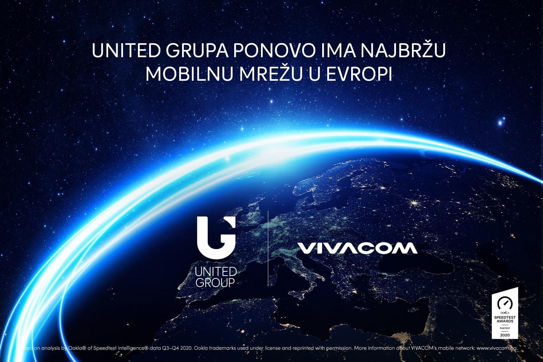 United Grupa ponovo ima najbržu mobilnu mrežu u Evropi