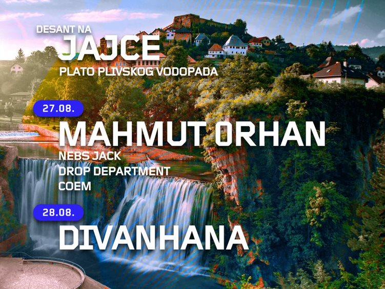 Divanhana i DJ Mahmut Orhan u Jajcu
