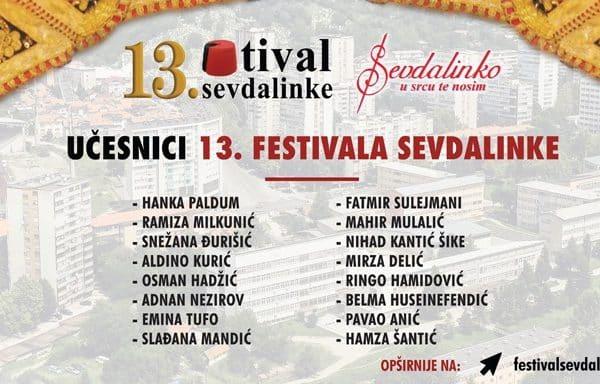 13. Festival sevdalinke - Zvijezde estrade učesnici revijalne večeri festivala