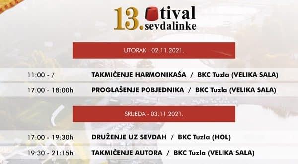 """13. Festival Sevdalinke """"Sevdalinko u srcu te nosim"""" - PROGRAM"""