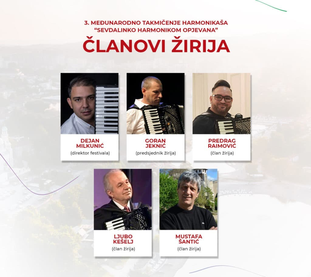 Članovi žirija 3.međunarodnog takmičenja harmonikaša